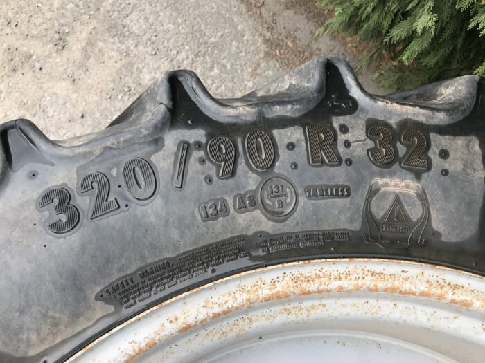 340/85 R48 & 320/90 R32 row crop wheels