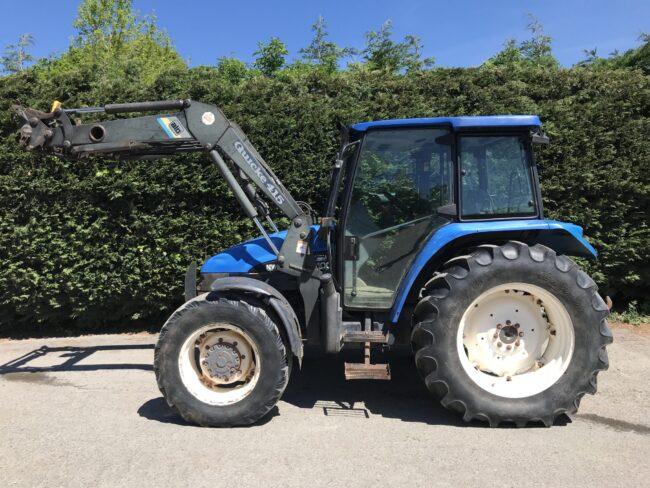 New Holland TL100 & Quicke 415 loader