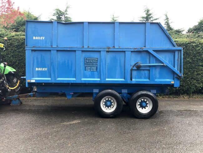 Bailey 12 ton trailer & silage sides