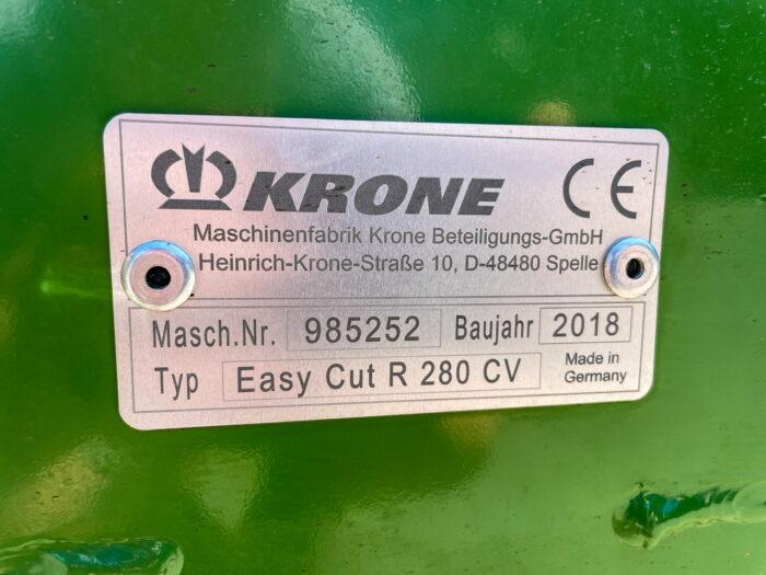 Krone EasyCut R280 CV mower conditioner