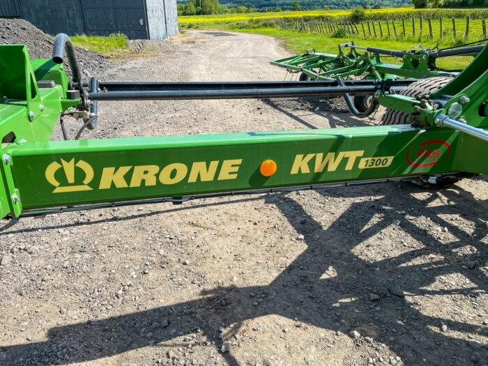 Krone KWT 1300 trailed tedder - ex demo